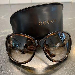 Gucci Tortoise Horse-bit Sunglasses
